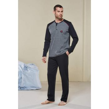 Jacquard Interlock Men's Pajamas Set with Pattern 20347 PJS20347