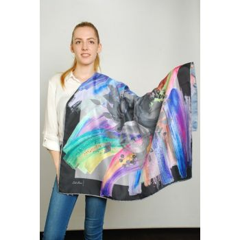 Women Multi Color Sport Polyester Scarf 9351196