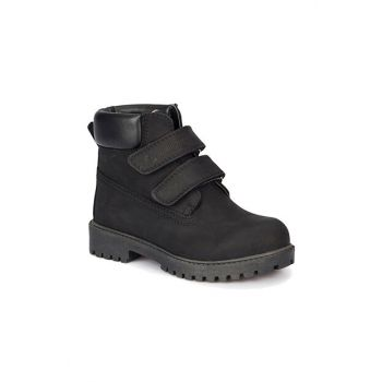 Black Men's Leather Boot RIVER
