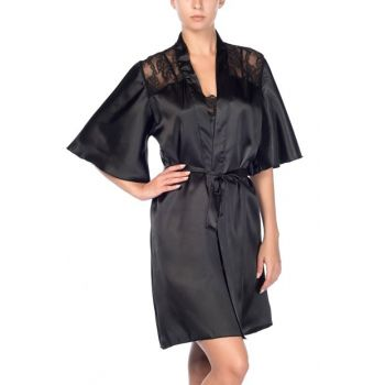 Satin Lace Dressing Gown 001-018303
