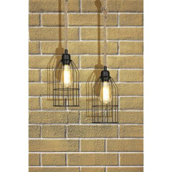 Rope Pendant Lamp With Cage ASZ.0549