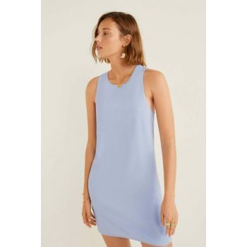 Women's Sky Blue Back Wrap Dress 53010608