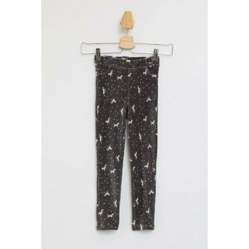 Slim Fit Velvet Unicorn Printed Trousers L7934A6.19AU.AR141