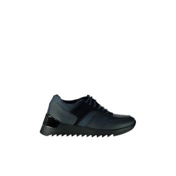 Genuine Leather Navy Blue Men Shoes 02AYH129000A680