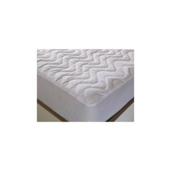 Quilted Padded Liquid Proof Fitted Mattress Pad 160x200 36488KNT