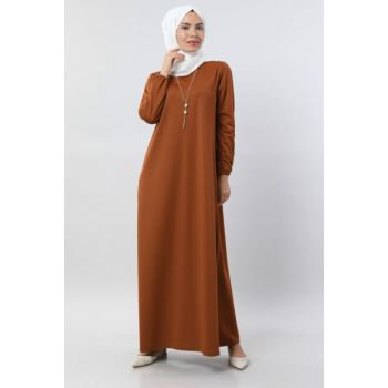 Women Taba Basic Dress with Necklace 5256