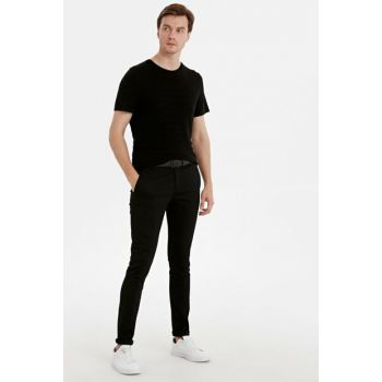 Men's New Black Cvl Chino Pants 9SB808Z8