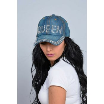 Queen Stone Jeans Hat Navy Blue WE75107