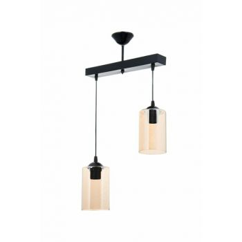 Emerald Black Line Pendent Chandelier with 2 Pieces 0360
