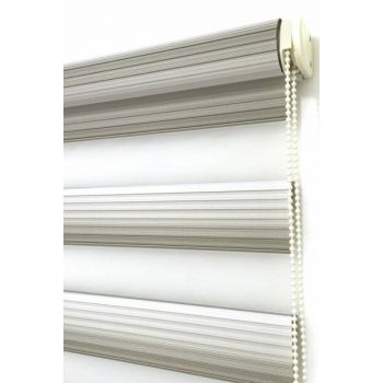 100X200 Zebra Curtain Aegean Mink Gradient Wide Pleated Roller Blinds 100X200-EY-BY-SAG-001EGE-08