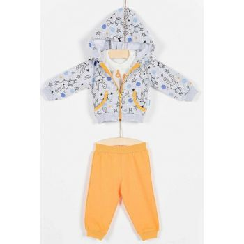 Buude Baby Bottom Top 3-Piece Set with Hooded Bunny 6-18 Months 6846 B6846