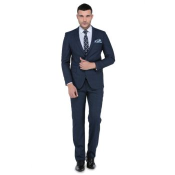 Men's Torres Slim Fit Mono Tk Yrt Suit Navy Blue-3B6M0444D100