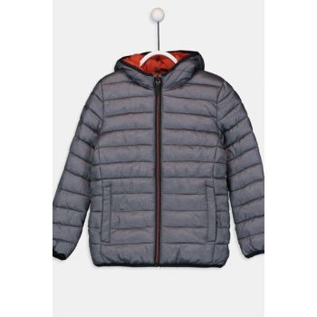 Boy Gray Melange Lal Coat 9W0111Z4
