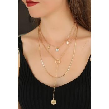 Heart Multilayered Women's Necklace 1004421