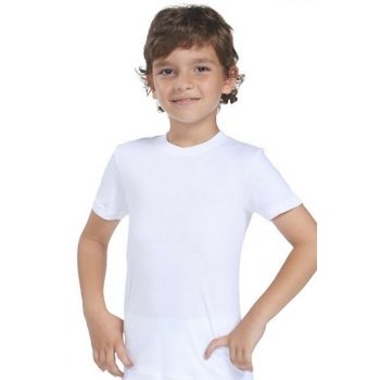 Boys' White Crew Neck Athlete 7005