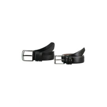Black Men's Textured 2 'Artificial Leather Belt TMNAW20KE0003
