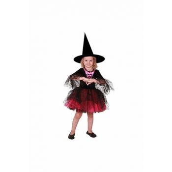 Witch Costume Incense Fuchsia - Black 7-8 Years 8681483657138