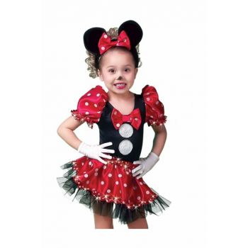 Minnie Mouse Red 7 Age Girl Costume ST00016-9