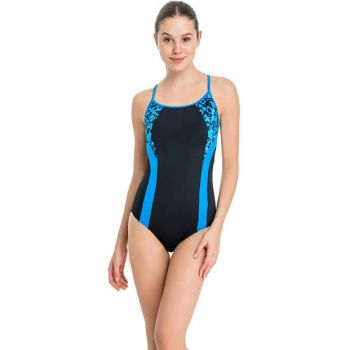 Women's Blue Detailed Slim Swimsuit Swimwear B0118Y0034