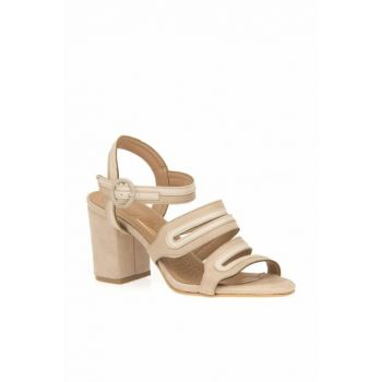 Tan Women's Heeled Shoes 9120 460874Z