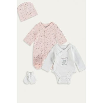 Baby Girl Pink Printed Lt4 Premature Newborn Suit 4-Piece 9W6277Z1
