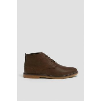 Men's Brown Brown Ankle Boots 13050012