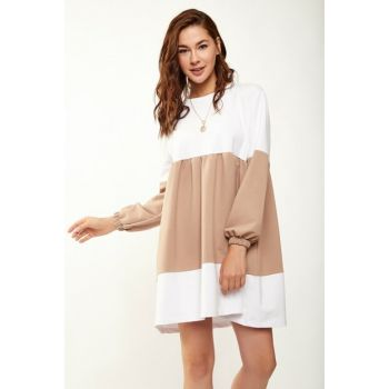 Women \ 's Mink Block Piece Dress 2863 DD00151