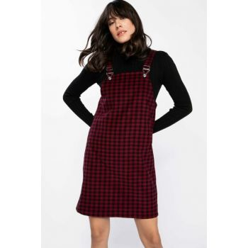 Women's Burgundy Strap Velvet Dress J0810AZ.18WN.BR285