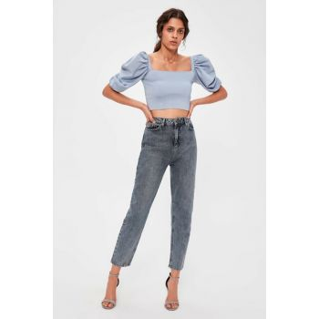 Anthracite High Waist Mom Jeans TWOAW20JE0180