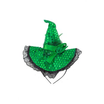 Sequin Halloween Capped Crown Green PB-HLW-0041