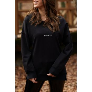 Women's Black Brooklyn Printed Sweatshirt 9KXK8-41670-02