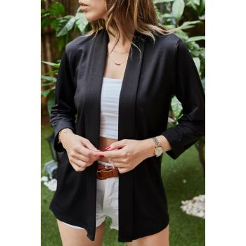 Women's Black Double Sleeve Jacket 9YXK4-41600-02