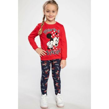 Red Minnie Mouse Printed Licensed Elastic Waisted Pajama Set K1420A6.18AU.RD51
