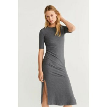 Women's Mid Flecked Gray Skirt Midi Length Dress 51083738