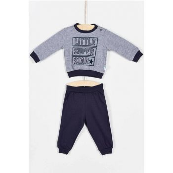 Buude Baby Boy Bottom Top Pajamas Suit Little Super 6-18 Months 6837 B6837