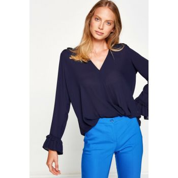 Women's Navy Blue Blouse 8KAK68952PW