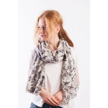 Black Smoked Scarf P2293 P-2293