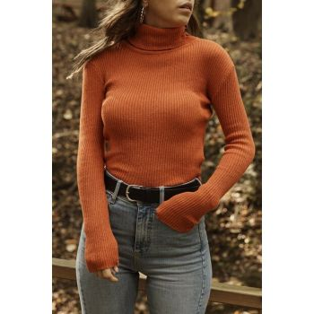 Women's Coral Coral Turtleneck Sweater 9YXK6-41563-64
