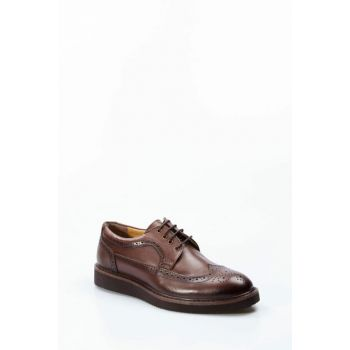 Genuine Leather Brown Men Classic Shoes 1848985