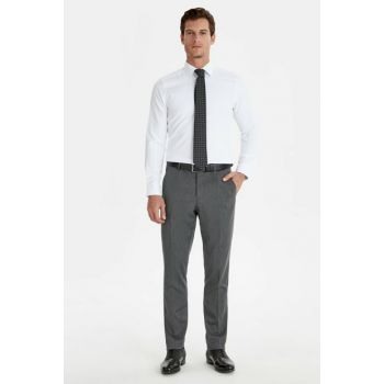 Men's Gray Trousers 9W1965Z8