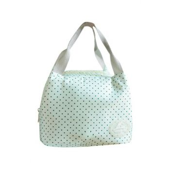 Green Polka Dot Patterned Thermos Lunch Box çnt05
