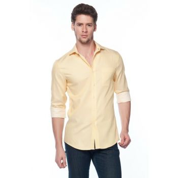 Yellow Men's Shirt 24F0518-700