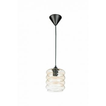 Lada Honey Transparent Glass Single Chandelier 10921