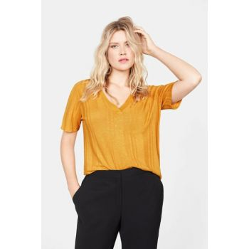 Women's Curry Flecked Striped T-Shirt 57002878
