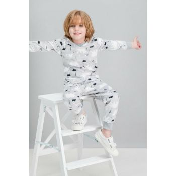 White Bear Gray Boys Fleece Pajamas Set RP1536-C-V2