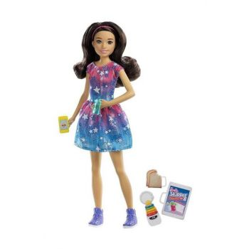 Baby Sitter Barbie Dolls FHY89 - Auburn - Starry Dress T000FHY89-39632