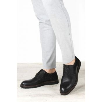 Genuine Leather Black Men Classic Shoes 1849000