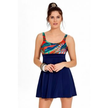 Women's Swimwear with Navy Blue Dress 0003411492