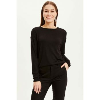 Women Black Basic Long Sleeve T-shirt K8826AZ.18CW.BK46