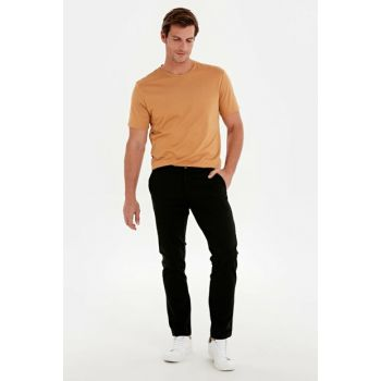 Men's Black Trousers 9W1023Z8